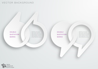 White Double Quotation Marks #Vector Graphics