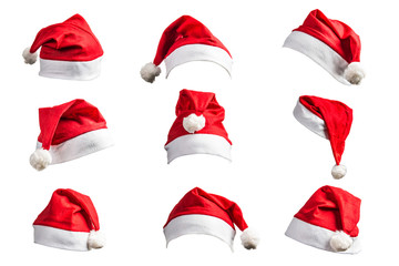 Christmas hat on white background