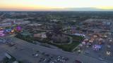Aerial shot sunset over Broward Fair 2017 - 182914812