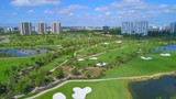 Golf course Aventura Turnberry FL stock footage - 182915659