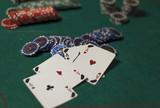 poker cards chips - 182915852