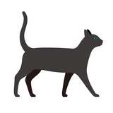 cat, farm animal icon, vector illustration