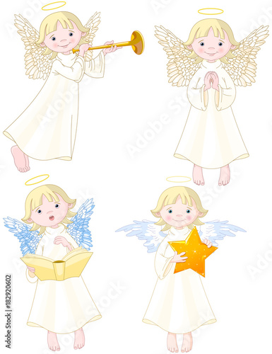 Tuinposter Sprookjeswereld Angels Set