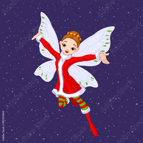 Deurstickers Sprookjeswereld Christmas Fairy