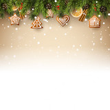 Traditional Christmas background