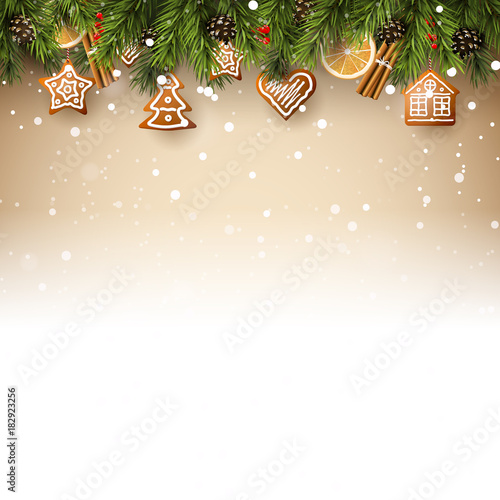 Traditional Christmas background - 182923256
