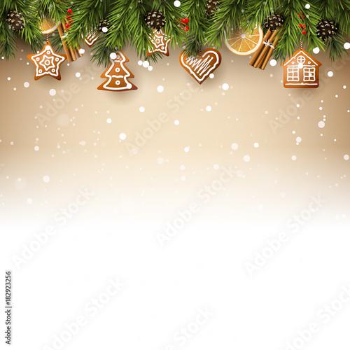 Fototapeta Traditional Christmas background