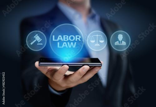 Fototapeta Labor Law Lawyer Legal Business Internet Technology Concept