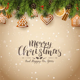 Traditional Christmas background - 182924004
