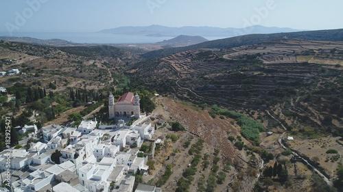 In de dag Grijs Grèce Cyclades île de Paros Village de Lefkes