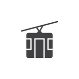 Cable car icon vector, filled flat sign, solid pictogram isolated on white. cableway symbol, logo illustration. - 182926454