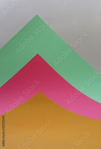 Fotobehang Abstractie Abstract background of sheets of colored paper