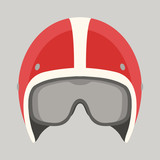 Fototapety helmet motorcycle vector illustration flat style front