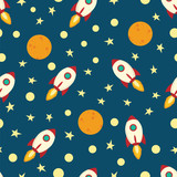 pattern with spaceship