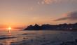 Quadro Sunset on the Beach in Rio de Janeiro