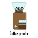 Color vector illustration of the coffee grinder. - 182946681