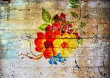 Graffiti. Fleurs psychédéliques. - 182947263