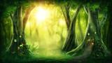 Fototapeta Child room - Dark magic forest © Elena Schweitzer