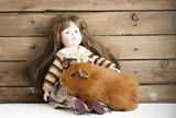 Морская свинка с куклой - 182949404