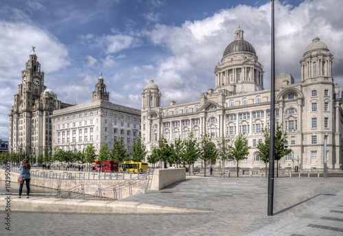 The Three Graces in Liverpool, UK