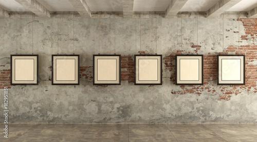Grunge art gallery