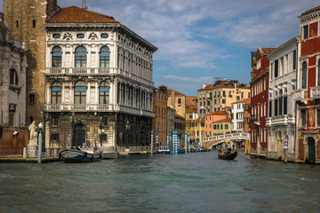 Beautiful panorama of the Grand Canal in Venice, Italy
