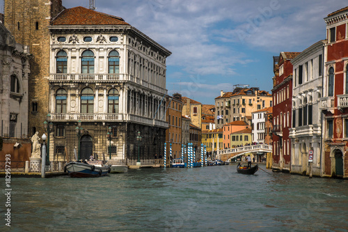 Deurstickers Venetie Beautiful panorama of the Grand Canal in Venice, Italy