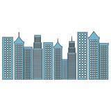 cityscape buildings isolated icon vector illustration design - 182957898