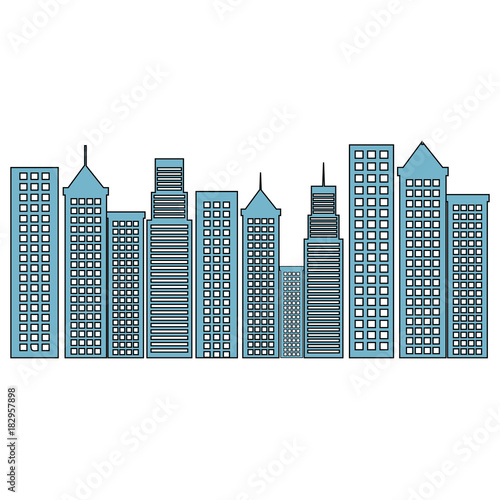 Fototapeta cityscape buildings isolated icon vector illustration design