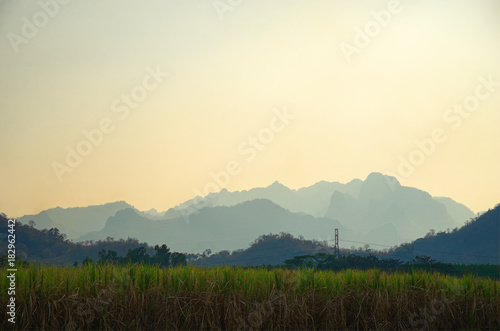 Staande foto Beige Mountain range background, Northeast Thailand