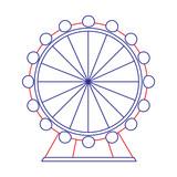 attraction ferris wheel landmark tourism adventure vector illustration - 182964202