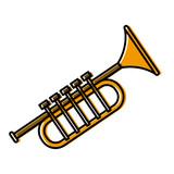 Trumpet music instrument icon vector illustration graphic design - 182967004