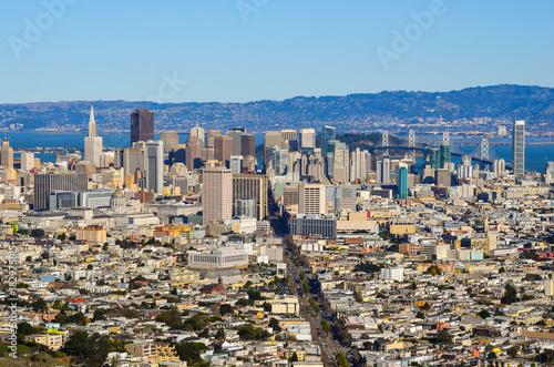 Plexiglas San Francisco View of downtown San Francisco Ca. with the Bay Bridge in view
