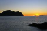 soleil levant sur le cap Cope en Andalousie - 182976694