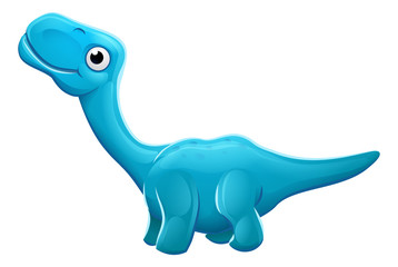 Cute Apatosaurus Cartoon Dinosaur © Christos Georghiou