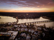 Aerial View of Red Bank Sunset