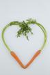 fresh carrots in heart shape - 183003004