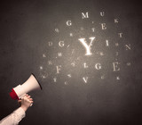 Megaphone with letters - 183003825