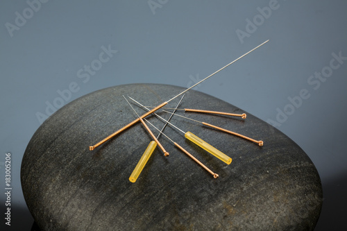 Leinwandbild Motiv acupuncture needles