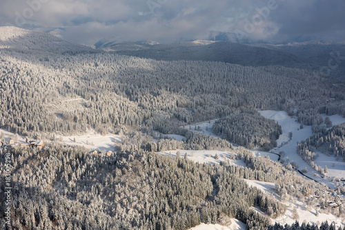 Foto op Canvas Grijs snow landscape, located in black forest germany