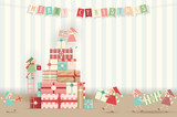 Merry Christmas Greeting Card - 183006089