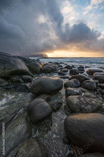 Plexiglas Zwart Landscape in Northern Norway