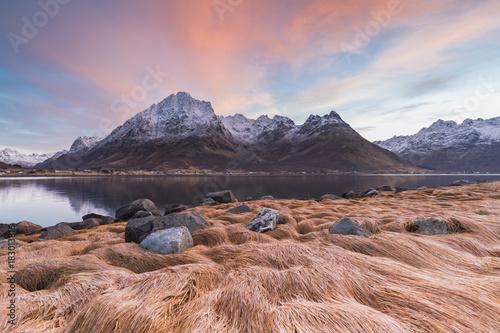 Plexiglas Zalm Landscape in Lofoten