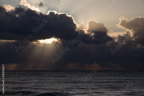 Deurstickers Zee zonsondergang sunset sea