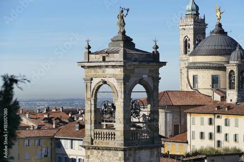 Deurstickers Cappuccino Bergamo - panorama dal Parco delle Rimembranze
