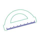 school protractor geometric supply element icon vector illustration - 183020445