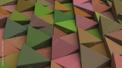 Wall mural Pattern of green triangle prisms