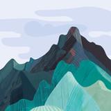 Mountain range, mountainous massif
