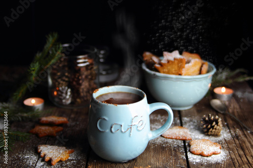 Papiers peints Chocolat горячий шоколад с рождественскими пряниками
