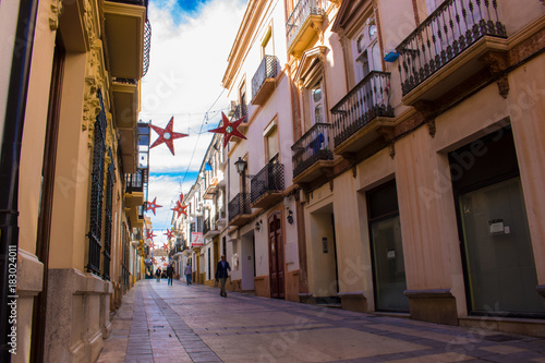 Plexiglas Smalle straatjes Ronda. The street of the city of Ronda, province of the city of Malaga. Andalusia, Spain. Photo taken – 13 n ovember 2017